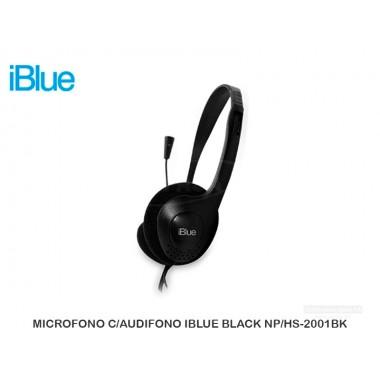 MICROFONO C/AUDIFONO IBLUE BLACK NP/HS-2001BK