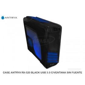 CASE ANTRYX RX-320 BLACK USB 3.0 C/VENTANA SIN FUENTE