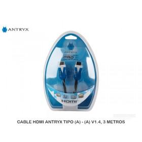 CABLE HDMI ANTRYX TIPO (A) - (A) V1.4, 3 METROS