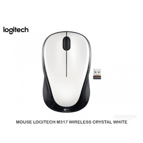 MOUSE LOGITECH M317 WIRELESS CRYSTAL WHITE