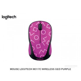 MOUSE LOGITECH M317C WIRELESS GEO PURPLE