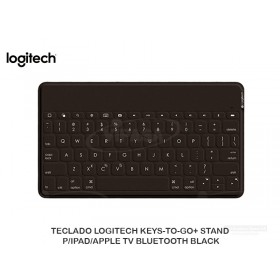 TECLADO LOGITECH KEYS-TO-GO+ STAND P/IPAD/APPLE TV BLUETOOTH BLACK