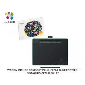 WACOM INTUOS COMFORT PLUS, PEN & BLUETOOTH S. PISTACHIO CLT6100WLE0