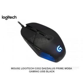 MOUSE LOGITECH G302 DAEDALUS PRIME MOBA GAMING USB BLACK