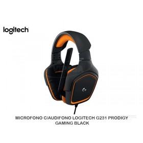 MICROFONO C/AUDIFONO LOGITECH G231 PRODIGY GAMING BLACK