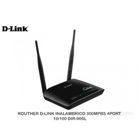 ROUTHER D-LINK INALAMBRICO 300MPBS 4PORT 10/100 DIR-905L