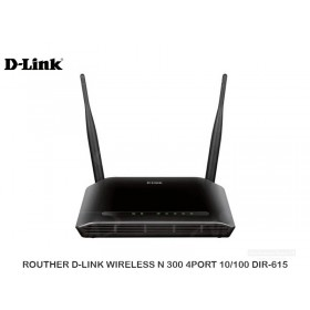 ROUTHER D-LINK WIRELESS N 300 4PORT 10/100 DIR-615