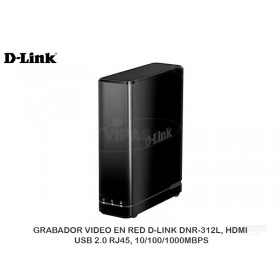GRABADOR VIDEO EN RED D-LINK DNR-312L, HDMI, USB 2.0 RJ45, 10/100/1000MBPS