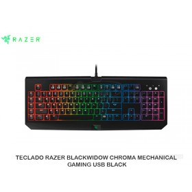 TECLADO RAZER BLACKWIDOW CHROMA MECHANICAL GAMING USB BLACK