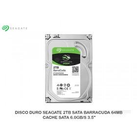 """DISCO DURO SEAGATE 2TB SATA BARRACUDA 64MB CACHE SATA 6.0GB/S 3.5"""""""