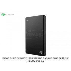 "DISCO DURO SEAGATE 1TB EXTERNO BACKUP PLUS SLIM 2.5"" NEGRO USB 3.0"