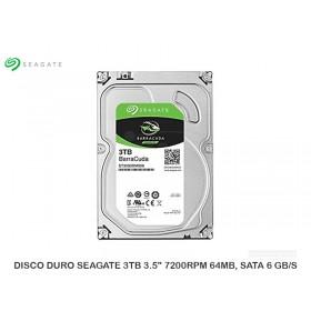 """DISCO DURO SEAGATE 3TB 3.5"""" 7200RPM 64MB, SATA 6 GB/S"""