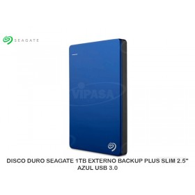 "DISCO DURO SEAGATE 1TB EXTERNO BACKUP PLUS SLIM 2.5"" AZUL USB 3.0"