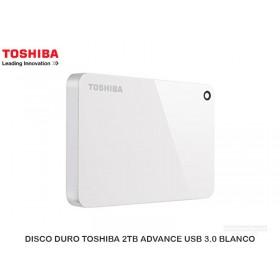DISCO DURO TOSHIBA 2TB ADVANCE USB 3.0 BLANCO