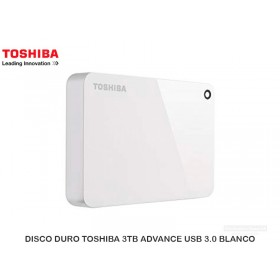 DISCO DURO TOSHIBA 3TB ADVANCE USB 3.0 BLANCO