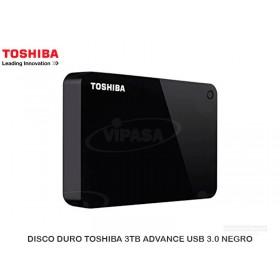 DISCO DURO TOSHIBA 3TB ADVANCE USB 3.0 NEGRO