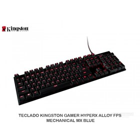 TECLADO KINGSTON GAMER HYPERX ALLOY FPS MECHANICAL MX BLUE