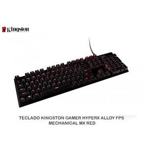 TECLADO KINGSTON GAMER HYPERX ALLOY FPS MECHANICAL MX RED