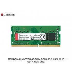 MEMORIA KINGSTON SODIMM DDR4 8GB, 2400 MHZ, CL17, NON-ECC.