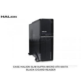 CASE HALION SLIM SUPRA MICRO ATX S607A BLACK C/CARD READER