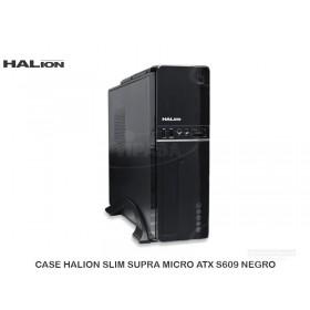 CASE HALION SLIM SUPRA MICRO ATX S609 NEGRO