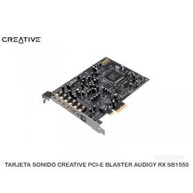 TARJETA SONIDO CREATIVE PCI-E BLASTER AUDIGY RX SB1550