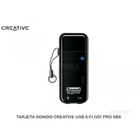 TARJETA SONIDO CREATIVE USB X-FI GO! PRO SBX