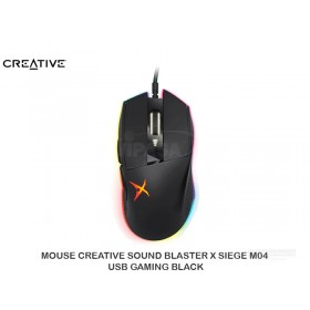 MOUSE CREATIVE SOUND BLASTER X SIEGE M04 USB GAMING BLACK