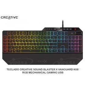 TECLADO CREATIVE SOUND BLASTER X VANGUARD K08 RGB MECHANICAL GAMING USB
