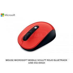 MOUSE MICROSOFT MOBILE SCULPT ROJO BLUETRACK USB 43U-00023