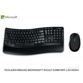 TECLADO+MOUSE MICROSOFT SCULP COMFORT L3V-00004