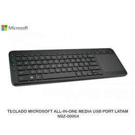 TECLADO MICROSOFT ALL-IN-ONE MEDIA USB PORT LATAM N9Z-00004
