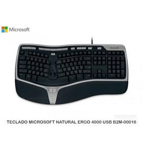 TECLADO MICROSOFT NATURAL ERGO 4000 USB B2M-00016