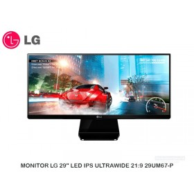 "MONITOR LG 29"" LED IPS ULTRAWIDE 21:9 29UM67-P"