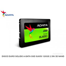 DISCO DURO SOLIDO A-DATA SSD SU650 120GB 2.5IN 3D NAND