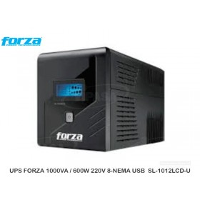 UPS FORZA 1000VA / 600W 220V 8-NEMA USB  SL-1012LCD-U