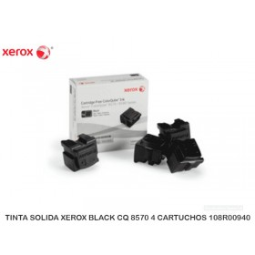 TINTA SOLIDA XEROX BLACK CQ 8570 4 CARTUCHOS 108R00940