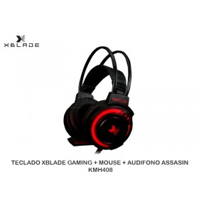 AUDIFONO C/MICROFONO XBLADE GAMING ORCUS HG9026 NEGRO/ROJO