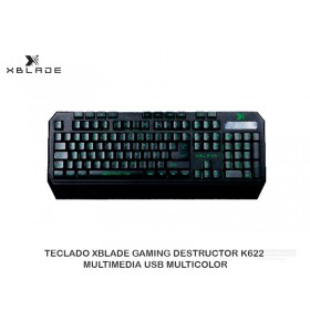 TECLADO XBLADE GAMING DESTRUCTOR K622 MULTIMEDIA USB MULTICOLOR
