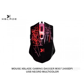 MOUSE XBLADE GAMING DAGGER M307 2400DPI, USB NEGRO MULTICOLOR