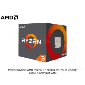PROCESADOR AMD RYZEN 3 1300X 3.5/3.7GHZ 4CORE, 8MB-L3 65W SKT AM4
