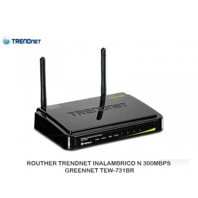 ROUTHER TRENDNET INALAMBRICO N 300MBPS GREENNET TEW-731BR