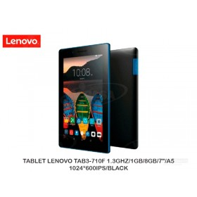 "TABLET LENOVO TAB3-710F 1.3GHZ/1GB/8GB/7""/A5/1024*600IPS/BLACK"