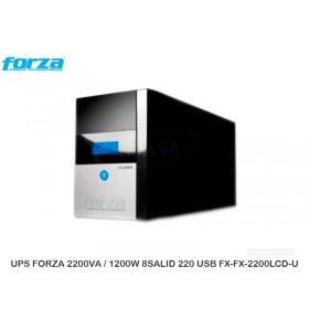 UPS FORZA 2200VA / 1200W 8SALID 220 USB FX-FX-2200LCD-U