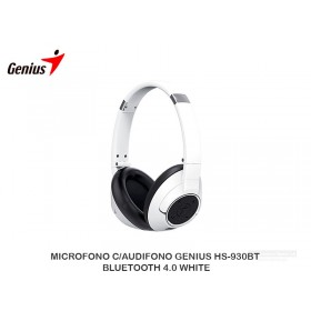 MICROFONO C/AUDIFONO GENIUS HS-930BT BLUETOOTH 4.0 WHITE