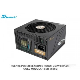 FUENTE PODER SEASONIC FOCUS 750W 80PLUS GOLD MODULAR SSR-750FM