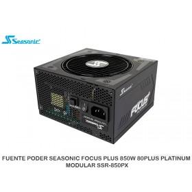 FUENTE PODER SEASONIC FOCUS PLUS 850W 80PLUS PLATINUM MODULAR SSR-850PX