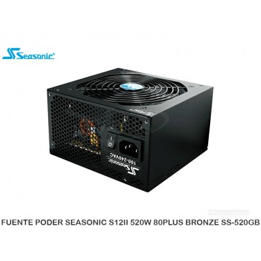 FUENTE PODER SEASONIC S12II 520W 80PLUS BRONZE SS-520GB