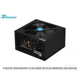 FUENTE SSEASONIC S12II 620W 80 PLUS BRONZE (SS-620GB)