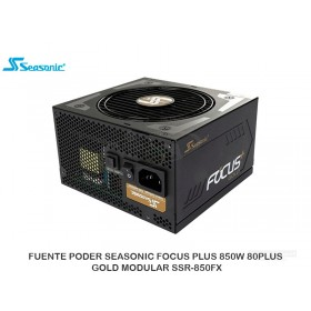 FUENTE PODER SEASONIC FOCUS PLUS 850W 80PLUS GOLD MODULAR SSR-850FX